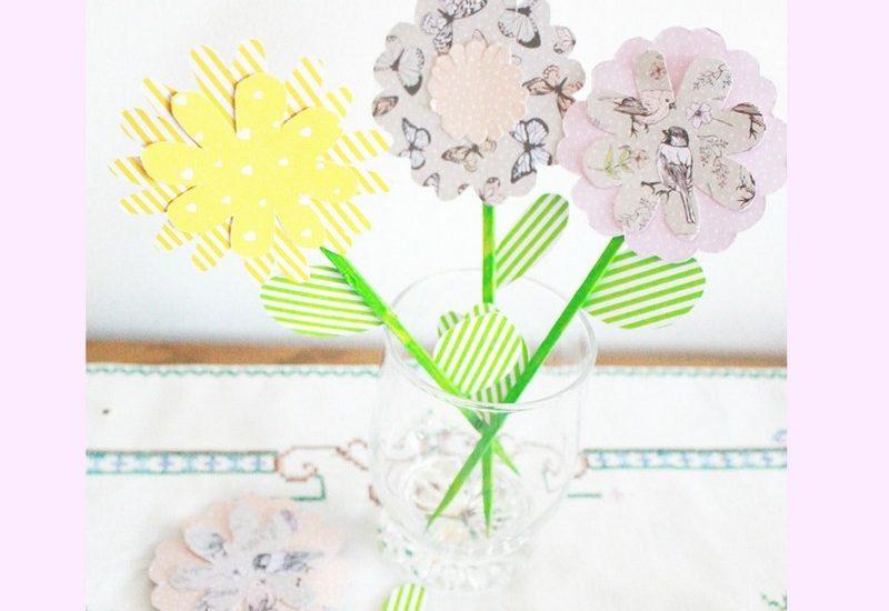 Frühlingsdeko Basteln papierblumen diy frühlingsdeko basteln mit kindern gastbeitrag