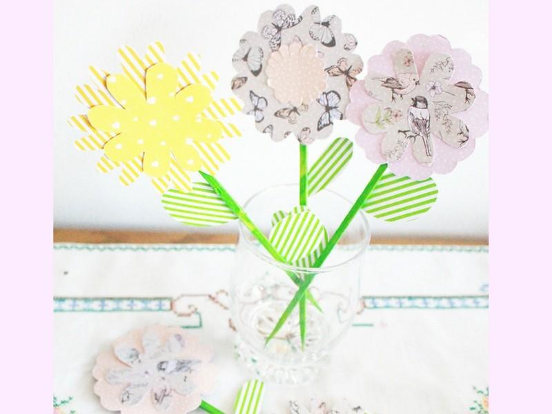 Papierblumen Diy Frühlingsdeko Basteln Mit Kindern