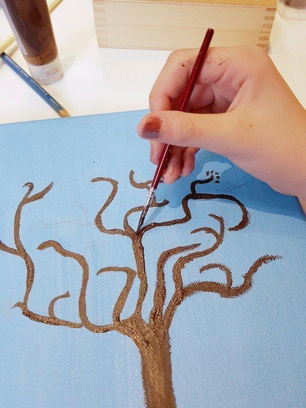 Baum Auf Leinwand Malen Simplylovelychaos