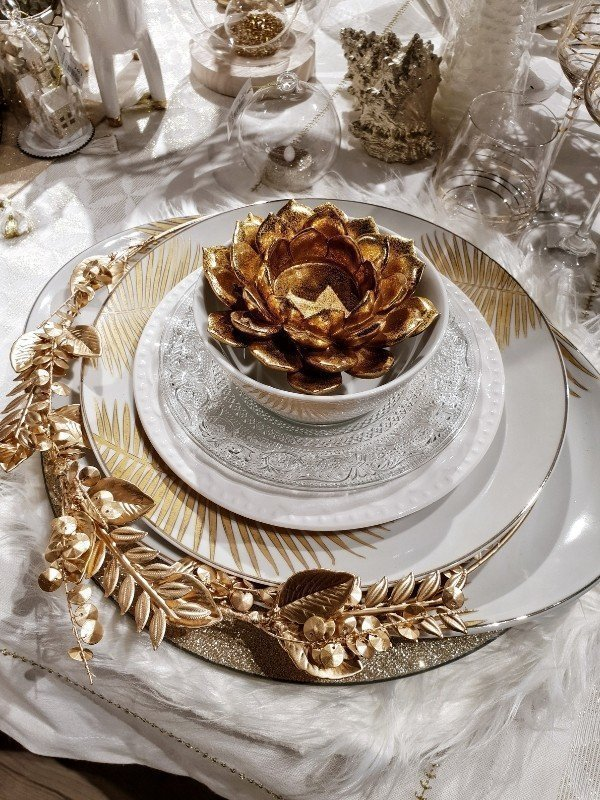 Maisons Du Monde Tischdeko Weiss Gold Weihnachten Simplylovelychaos