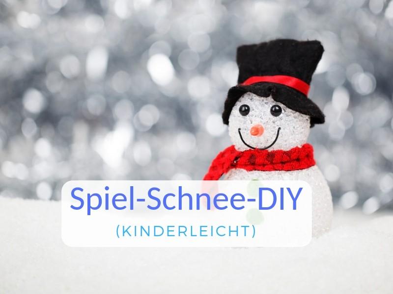 Spiel Schnee Kinderleicht Selber Machen Anleitung