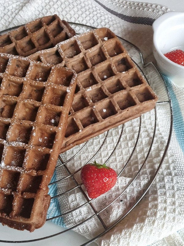 Brownie Waffeln - so lecker! - SIMPLYLOVELYCHAOS